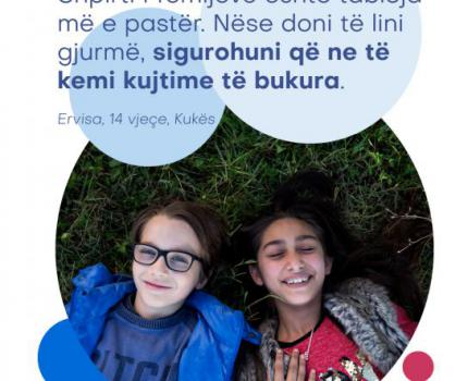 Raise your voice with us and #Reimagine a better world for every child in Albania
