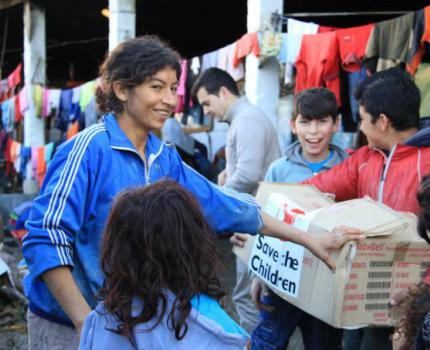 Distribution Aid to families affected by flooding in Albania